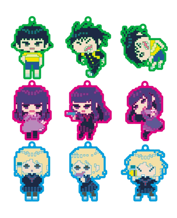 High Score Girl Collectible Rubber Straps: 8-bit ver.