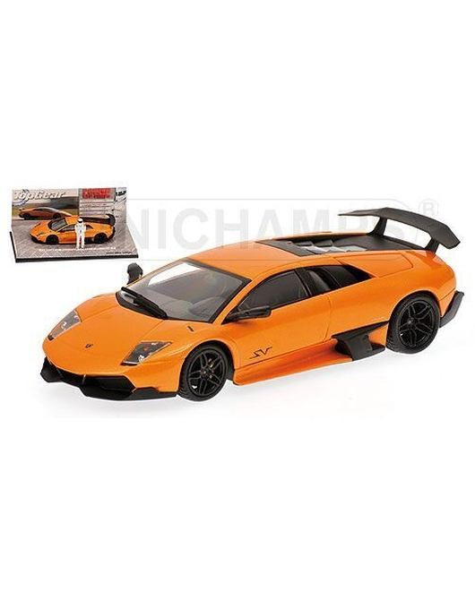 MINICHAMPS 1/43 Scale Lamborghini Murcielago LP670-4SV 2009 (Orange) <TOP GEAR>
