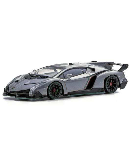 KYOSHO 1/43 Scale Lamborghini Veneno (Gray /Green Line)