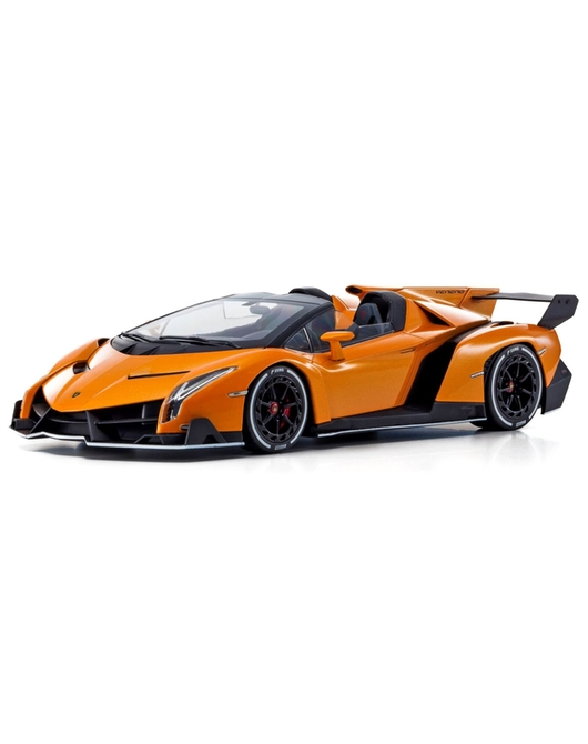 KYOSHO 1/18 Scale Lamborghini Veneno Roadstar (Orange/White Line)