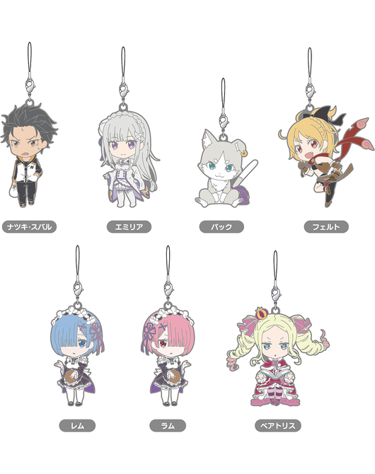 Nendoroid Plus: Re:ZERO -Starting Life in Another World- Collectible Rubber Straps