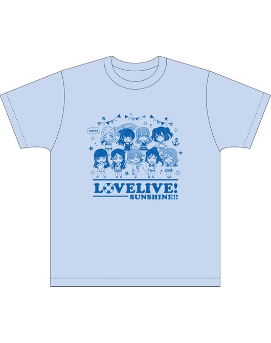 黏土人Plus LoveLive! Sunshine!! T-shirt