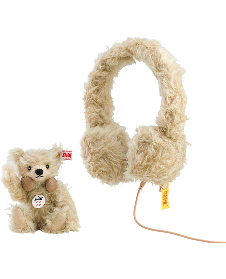 STEIFF TEDDY BEAR MOHAIR HEADPHONES