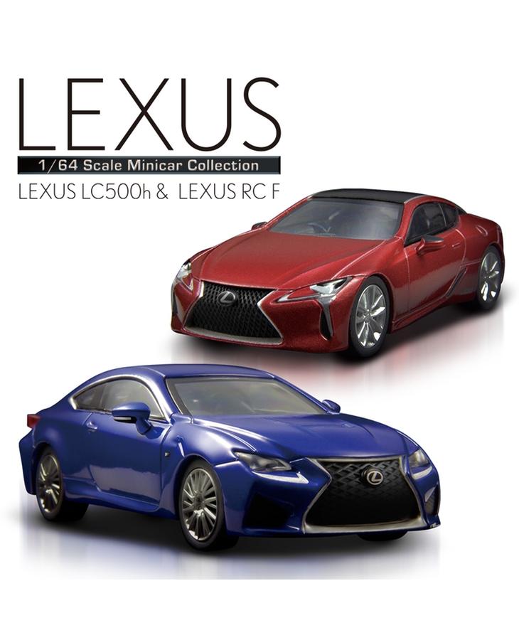 KYOSHO 1/64 Scale LEXUS LC500h & LEXUS RC F Mini Car Collection ...